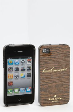 kate spade new york 'knock on wood' iPhone 4 & 4S case | Nordstrom