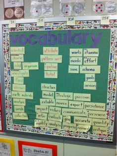 Tier 3 Vocabulary Wall by @Kari Staib