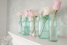 How to paint jars to create the old mason jar look