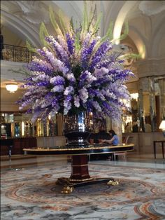 Best flower arrangement at Hotel de Paris MONTE CARLO