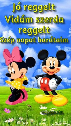 szerda reggel - Megaport Media Mickey Love, Mickey And Friends, Mickey Minnie Mouse, Share Pictures, Animated Gifs, Disney Figurines, Cartoon Characters, Fictional Characters, Hollywood Studios