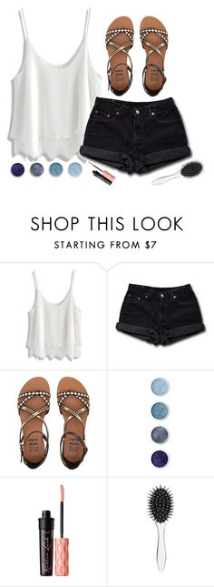 """""""that was the day i that I promised I'd never sing of love if it does not exist."""" by lalatheawesome ❤ liked on Polyvore featuring Chicwish, Levi's, Billabong, Terre Mère, Benefit, New Look, Summer, Blue, beach and blackandwhite"""