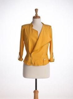 Moto Jacket - Yellow,  Outerwear, yellow moto jacket, Casual