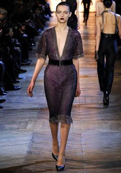 Yves Saint Laurent fall 2012. Chainmail chicness!