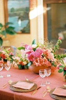coral wedding decor | Bows and Arrows