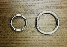 Solid Welded O Ring Nickel Plated 10//pk 5 Sizes