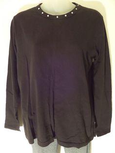 N.Y.L. Women's T-Shirts Size-L Black 100% Cotton Very Good! #NYL #BasicTee