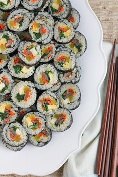 Entertaining with Kimbap and Tips on How to Make Your Own Rolls! | Hip Foodie Mom