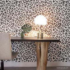 Large Floral Damask Wall Stencils - DIY Wallpaper Look – Royal Design Studio Stencils Damask Wall Stencils, Moroccan Wall Stencils, Stencil Wall Art, Wall Stencil Patterns, Stencil Painting On Walls, Stenciling Walls, Tile Stencils, Large Stencils, Print Patterns
