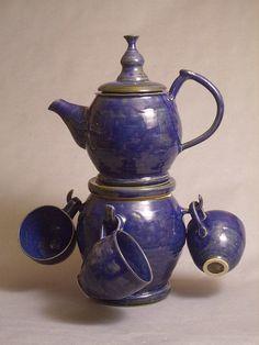 Handmade Wheel Thrown Tea Set  Custom  Teapot with by Sarahmics, $125.00