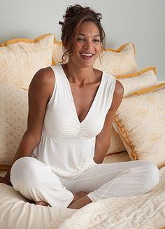 Bamboo Pajamas...  I don't know who carries these but I heard they were nice.  Try Soma or Macy's