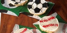 Soccer Ball and Baseball Treats™ Recipe | Kellogg's® Rice Krispies®