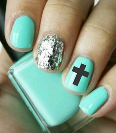 Love these :-) .. Etsy listing at https://www.etsy.com/listing/128561572/nail-art-cross