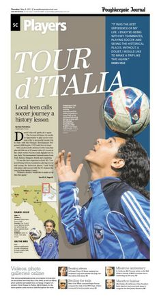 Tour d'Italia, Poughkeepsie Journal, by Tommy Piatchek and Michael Grant