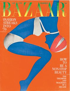 design-is-fine:Bea Feitler & Ruth Ansel, cover design for Harper's Bazaar, Photo: Alberto Rizzo. Editorial pages, Photo: Hiro. More in portuguese:Source 1 and Source 2 Fashion Magazine Cover, Cool Magazine, Fashion Cover, Vintage Magazines, Vintage Ads, Soul Art, Graphic Design Typography, Editorial Design, Cover Design