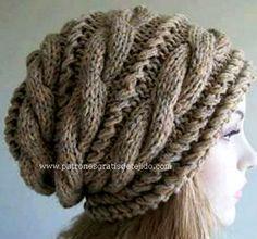 This is not in English, however it's a neat pattern. Crochet Cowl Free Pattern, Bonnet Crochet, Crochet Beanie, Love Crochet, Knitted Hats, Knit Crochet, Crochet Hats, Yarn Projects, Knitting Projects