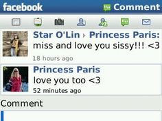 """The best moment ever when I could talk with Paris Hilton on facebook! It's real not just my dream ♥ :"""")"""