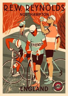 poster for R. E. W. Reynolds who make handmade cycling shoes