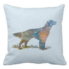 #rustic - #English Setter Throw Pillow