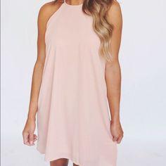 Dottie Couture Boutique Pale Pink Halter Dress