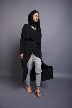 Black Maxi Kimono | INAYAH www.inayahcollection.com    Maybe AMSAH could like/wear this?!!