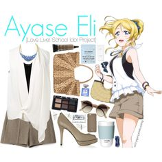 Ayase Eli [Love Live! School Idol Project] by anggieputeri on Polyvore