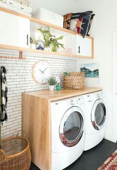 Practical Home laundry room design ideas 2018 Laundry room decor Small laundry room ideas Laundry room makeover Laundry room cabinets Laundry room shelves Laundry closet ideas Pedestals Stairs Shape Renters Boiler Laundry Room Organization, Laundry Room Design, Laundry In Bathroom, Organization Ideas, Storage Ideas, Ikea Laundry, Laundry Closet, Folding Laundry, Laundry Baskets