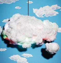 """lámpara-altavoz, se llama """"Cloud""""...y reproduce la misma iluminación como si estuvieramos enmedio de una tormenta eléctrica, cuenta con unos sensores de movimiento para los cambios de luz y se adapta al ritmo de la música...en fin todo un espectáculo."""