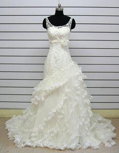 Vintage A LINE Lace Wedding Dress Bridal Gown Satin Sash Bridesmaid Dress Evening Prom Dress