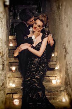Black wedding dress | Ashley Gerrity Photography | see more on: http://burnettsboards.com/2014/10/gothic-wedding-ideas/