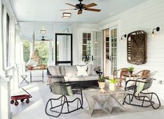 I Don't Care What You Say. I NEED MY CEILING FANS! cool porch