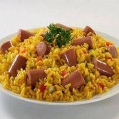 Recipe Arroz con Salchichas<br>Rice with Sausages Puerto Rico