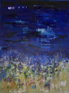 Buy Original Art by Changsoon Oh | oil painting | Night Beach at UGallery