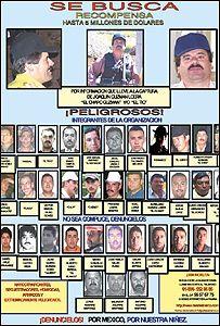 """Afiche de 2005 donde se ofrece US$5 millones por Joaquín """"El Chapo"""" Guzmán"""