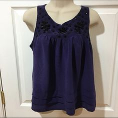 Forever 21 blouse Purple Forever 21 Blouse. Worn lightly but still in great condition. 100% silk Forever 21 Tops