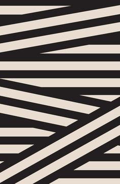 GRAPHIC NOISE The legacy of Bauhaus lives on in graphic black, white and grey / Splicing stripes / Dark, surreal feel with heavy, imposing shadows / Stripes break out into loose, wavy lines / Maze of graphic lines / Stripes also built into type to cre Graphic Patterns, Textile Patterns, White Patterns, Print Patterns, Textiles, Black White Pattern, Op Art, Pattern Art, Pattern Design