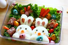 Easter Bento Boxes Awesome way to introduce fun new food in your kids lives.. Spice Up Your Life With a Taste of Japan