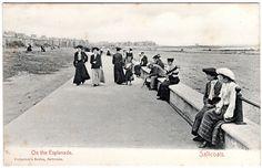 Esplanade early 20th c Local History, British History, West Coast Scotland, My Ancestors, Old Photos, Monochrome, Nostalgia, Black And White, Prints