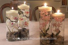 Mini jardín zen con velas flotantes - Ideas para manualidades