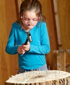 DIY for kids.  Article has some nice ideas, like having kids start using a saw on foam board, and screws on drywall - easier than wood.