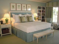 Nice & Simple For My Guest Room.. I Love Light Blue In A Bedroom #Relaxing