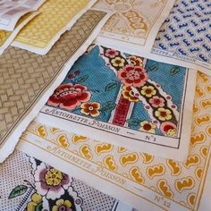 Prints by Antoinette Poisson providing inspiration for a gorgeous stationery suite for a December wedding. currently working her illustration magic Textiles, Textile Prints, Textile Patterns, Print Patterns, Painted Paper, Hand Painted, List Of Artists, Paper Decorations, Art Plastique