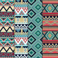 12 Nature Tones Aztec Pattern Digital Paper by DigitalMagicShop Geometric Patterns, Indian Patterns, Aztec Tribal Patterns, Aztec Designs, Motif Navajo, Navajo Pattern, Pattern Paper, Pattern Art, Pattern Design