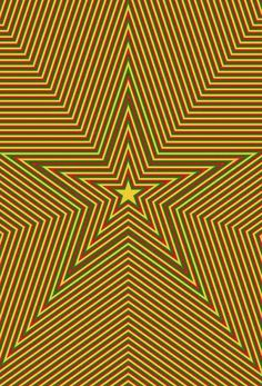 Optical illusion stars