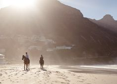Hout Bay - horse riding on the beach. #Africa #SouthAfrica #CapeTown