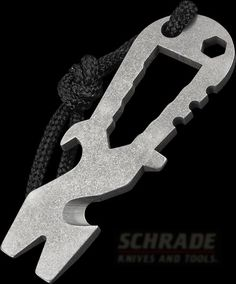 Titanium pry tool. Some would call it a 'keychain'.