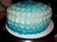 Turquoise ombre cake (carrot cake on the inside)