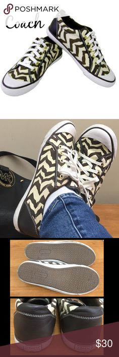 Sz 10 Coach zebra sneakers Sz 10 Coach zebra sneakers. Great condition. Make me an offer Clean! See pictures. Ask before purchase. Coach Shoes Sneakers