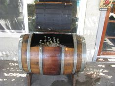Wine Barrel Ice Chest or Storage chest by KingBarrel on Etsy, $300.00