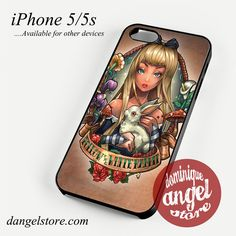 alice and wonderland pin up Phone case for iPhone 4/4s/5/5c/5s/6/6 plus